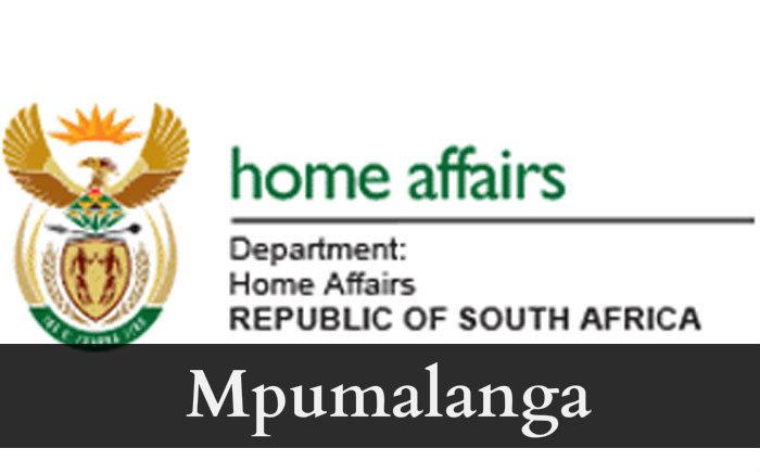 Home affairs Mpumalanga