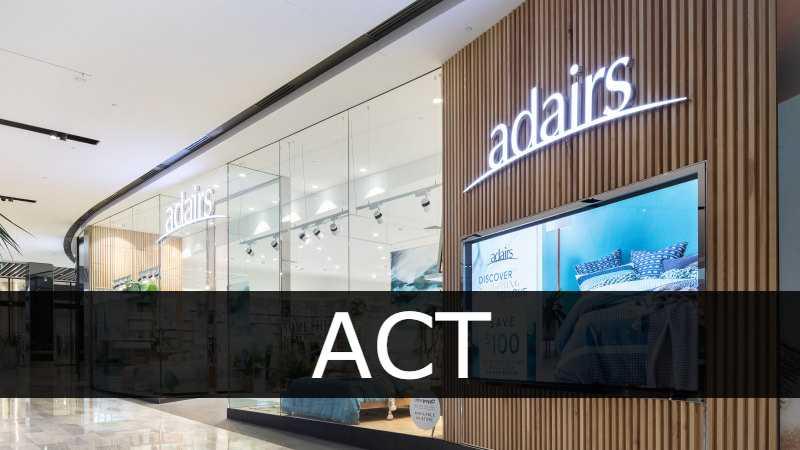 Adairs store ACT